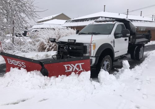 Truck Being Used to Provide Snow and Ice Removal Services for Peoria IL